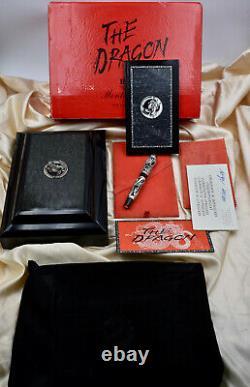 Montegrappa The Dragon 925 Silver Par F. Mont Limited Edition Fountain Pen Ef Nib