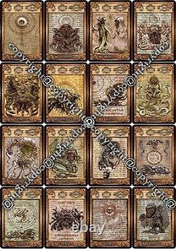 Necronomicon Tarot + Ebook +plan Rare Édition Limitée Fait Main Amantcraft Occult