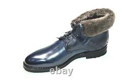 New Santoni Boots Fur Limited Edition Chaussures Taille Eu 40 Uk 6 Us 7 (led14)