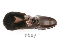 New Santoni Boots Fur Limited Edition Shoes Size Eu 43 Uk 9 Us 10 (led177)