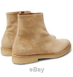 Nib Common Projects Bottes En Suède Zip Limited Edition (made In Italy) Prix Conseillé 650 $