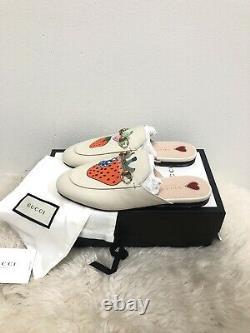 Nib Gucci Princetown Limited Edition Strawberry Brixton Mule Loafer Flat 38