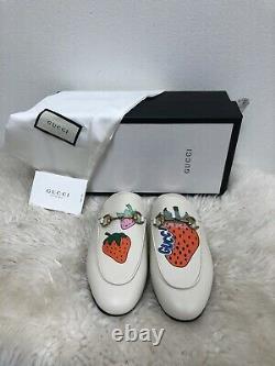 Nib Gucci Princetown Limited Edition Strawberry Brixton Mule Mocassins Flat 38