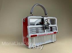 Nouveau Dolce & Gabbana Limited Edition Piste Retro Jukebox Boîte En Bois Bourse De Sac