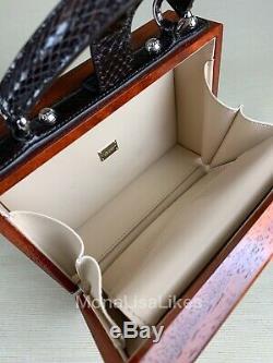 Nouveau Dolce Gabbana Limited Edition Piste Retro Tv Main Boîte En Bois De Bourse De Sac