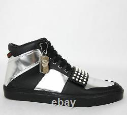 Nouveau Gucci Homme Silver Leather High-top Sneaker Limited Edition 8g 376194 1064