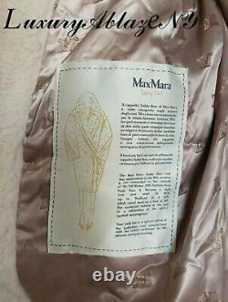 Nouveau Max Mara Vanille Teddy Bear Édition Spéciale Lady Ted Manteau Hiver/automne M