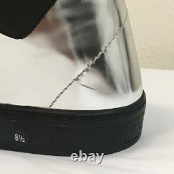 Nouveau Sneaker En Cuir Argent Pour Homme Gucci Édition Limitée 8.5g 376194 1064