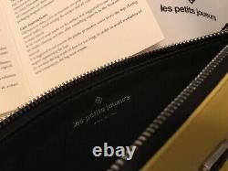Nwt Les Petits Joueurs Special Edition Lego Panda Leather Clutch Sac À Main 545 $
