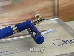 Omas Collezionne Europa Medium 18k Nib Fountain Pen Edition Limitée Stylo Plume