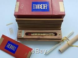 Omas Solid Gold Jerusalem 3000 Limited Edition Fountain Pen Neuf Dans La Boîte 354/500
