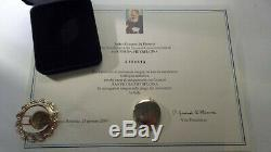 Padre Pio Panno Avec Relique Reliquaire Certificat 1ère Relique De Classe Édition Limitée