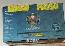 Panini Euro 2020 Sticker Box (pearl Edition)100 Packs=500 Autocollants
