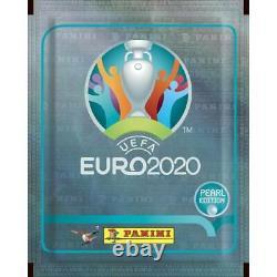 Panini Euro 2020 Swiss Pearl Edition Sticker Box Avec 100 Packs