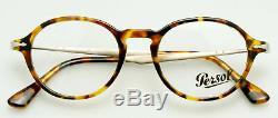 Persol Rx Calligraphe Édition Eyeglass Cadre Po3180v 1052 Lumière Tortue 48mm