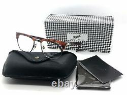 Persol Rx Lunettes Cadres 3196 V 1072 53-19 Brown Tortoise Tailoring Edition