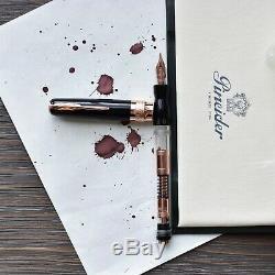 Pineider Mystery Filler Noir & Rose Gold Limited Édition Fountain Pen