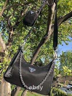 Prada Réédition 2005 Nylon Crossbody Black Bag