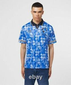 Rare New Order X Umbro Limited Edition England Italia 1990 Taille De Chemise Away Large