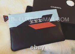 Sac Chanel Authentique O Rare Airport Édition Cuir Pochette Complet Nib