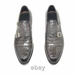 Santoni Limited Edition Blue Crocodile Leather Mens Shoes, Pdsf 5900 $