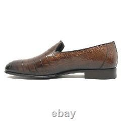 Santoni Limited Edition Brown Crocodile Leather Mens Shoes, Pdsf 5850 $