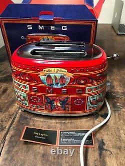 Smeg Dolce & Gabbana Sicile Est Mon Amour Grille-pain Édition Limitée Utilisé Avec La Boîte