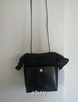 Sophie Hulme Nano Knot Leather & Satin Bucket Bag Rrp 1 000 $ Édition Limitée
