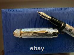 Stylos Classiques Cp8 Ag925 Sterling Silver Flamme 2008 Stylos Plume Édition Limitée