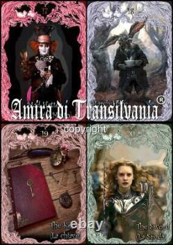 Tarot Alice Au Pays Des Merveilles Jeu De Cartes D'art Édition Rare Original Fait À La Main En Italie