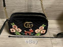 Tn-o Gucci Marmont Limited Edition Gg Fawn & Flowers Sac À Bandoulière Sac À Bandoulière