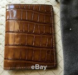 Tom Ford Hommes $ 1500 Cognac Alligator Limited Edition Wallet Newwtag Italie