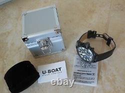 U-boat Left Hook Ifo Limited Edition Chronograph Quartz 52mm Montre Homme. Nouveau