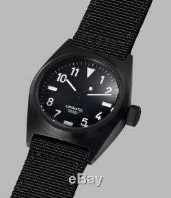 Unimatic Edition U2-bn 1/250 Noir Montre-bracelet Automatique Inoxydable DLC Steel