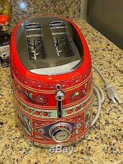 Véritable Smeg Dolce & Gabbana 2 Slice Toaster Rare Édition Limitée