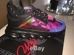 Versace Chain Reaction Sneakers Us Mens Taille 8.5 New Limited Edition Couleur
