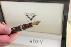 Visconti Cosmopolitan Red Celluloid Avec Silver Trim #1/38 Limited Edition