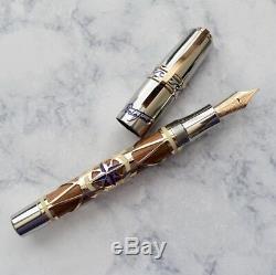 Visconti Limited Edition De 388 Portofino En Bois De Teck En Acier Overlay Fountain Pen