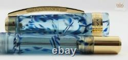 Visconti Limited Edition Manhattan Ice Blue Démonstrateur Gold Trim Fountain Pen