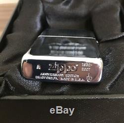 Zippo 75e Anniversaire Plus Légère Édition Limitée Swarovski 2007 Italie Du Japon